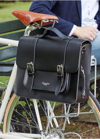 Cartable en cuir convertible porte-bagages - Hill & Ellis