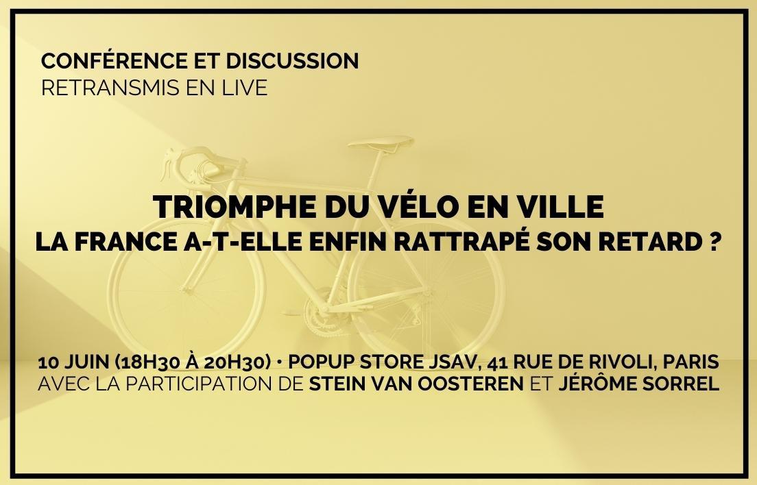 CONFÉRENCE • Triomphe du vélo en ville: la France a-t-elle enfin rattrapé son retard ?